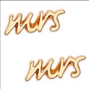 Kate Spade Gold Earring MRS NWT